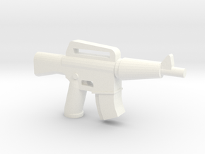 CAR-15 Extended Mag in White Processed Versatile Plastic