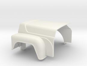 Mack-hood-V8-std in White Natural Versatile Plastic