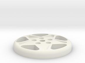 BUTTON CROMODORA WHEEL 328 in White Natural Versatile Plastic