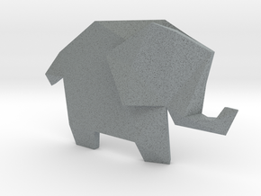 Origami Elephant  in Polished Metallic Plastic