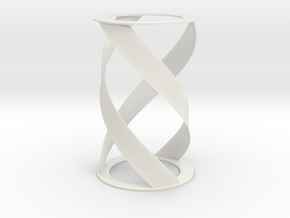 Helical Turbine in White Natural Versatile Plastic