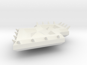 Diamond Spiked Shield in White Natural Versatile Plastic