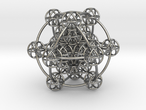 3D Metatron's Sphere: based on Metatron's Cube in Natural Silver