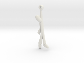 Hanging Man -v2a Steel Smoothed in White Strong & Flexible