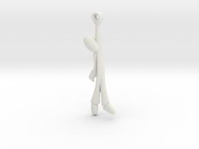 Hanging Man -v2a Steel Smoothed in White Natural Versatile Plastic