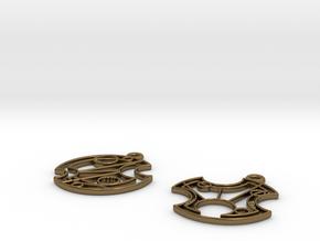 Gallifrey Earrings in Polished Bronze