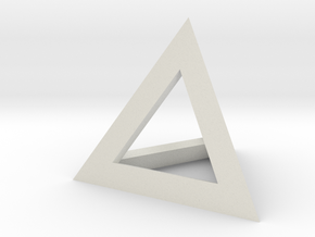 Pyramid Stand in White Natural Versatile Plastic