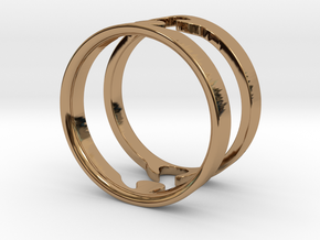 Jigsaw Rings - US size 9 in Polished Brass