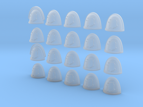 Raptor - 20, 28mm Shoulder Pads in Smooth Fine Detail Plastic