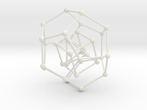 Pyramid Cube Dodecahedron in White Natural Versatile Plastic