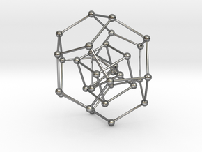 Pyramid Cube Dodecahedron in Premium Silver