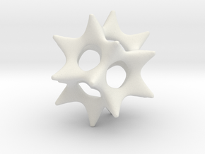 Cool Starfish 3D in White Strong & Flexible