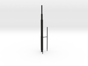 Willis Tower Antennae (Hollow) Right_Final in Black Natural Versatile Plastic