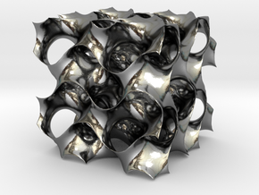 3D Gyroid Minimal Surface in Polished Silver