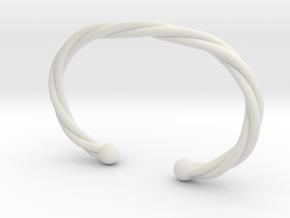 Torque celtique simple in White Natural Versatile Plastic