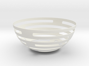 Fruitbowl in White Natural Versatile Plastic