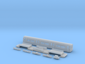 NT95UNp 1:148 95 tube stock UNDM (powered) in Smooth Fine Detail Plastic