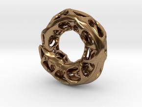 Ouroboros Pendant (S) in Natural Brass