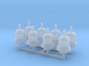 N Scale (1:160) - EMD Roof Mount Locomotive Bells in Smooth Fine Detail Plastic