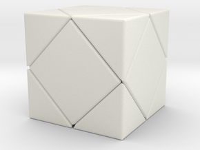 Twistopoly: Skewb in White Natural Versatile Plastic