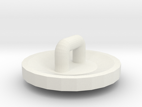 Etruscan Shield for Minifigs in White Natural Versatile Plastic