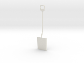 Shovel, 1/8 scale in White Natural Versatile Plastic