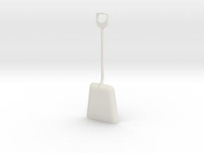 1/8 size coal shovel in White Natural Versatile Plastic