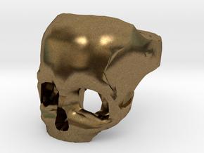 Skull Ring US 11 in Natural Bronze