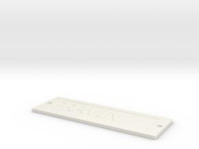 by kelecrea, engraved: PRAVIN in White Strong & Flexible