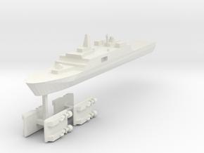 071 PLAN Amphibious Dock V2 + LCACs 1:2400 in White Strong & Flexible