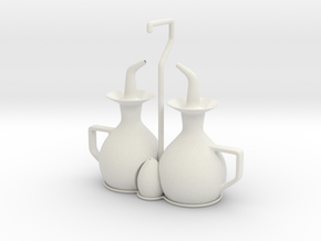 cruet set in White Natural Versatile Plastic