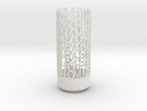 Light Poem - Om namah shivay namah Om - white poli in White Natural Versatile Plastic