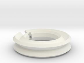 Plastic Support Ring in White Natural Versatile Plastic