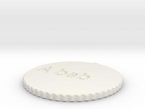 by kelecrea, engraved: A bab in White Strong & Flexible