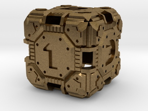 Tech Dice D-6  in Raw Bronze