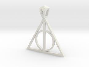 Harry Potter Pendant (metal) in White Natural Versatile Plastic