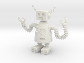 Robot that Loves in White Natural Versatile Plastic