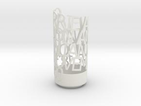 Anniversary Gift in White Natural Versatile Plastic