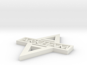 Arkham Logo single sided in White Natural Versatile Plastic
