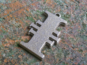Warhammer 40K Inquisitorial Pendant in Polished Bronzed Silver Steel