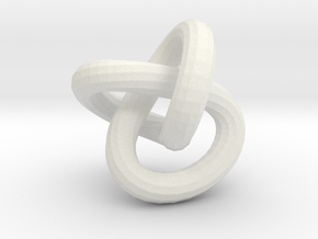 Endless knot thick - 1.7 cm in White Natural Versatile Plastic