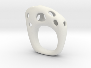 Burnt Ring 5 in White Natural Versatile Plastic