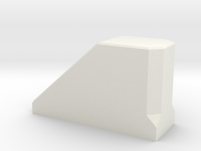 Stopblock-1 in White Natural Versatile Plastic