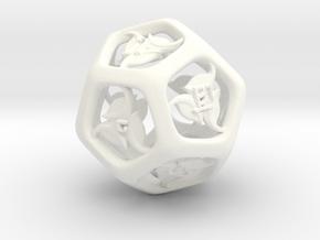 Tengwar Elvish D12 in White Processed Versatile Plastic