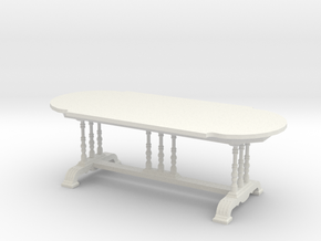 1:24 Old English Dining Table in White Strong & Flexible
