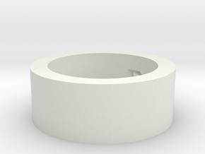 by kelecrea, engraved: not so short in White Natural Versatile Plastic