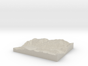 Model of Vail in Natural Sandstone