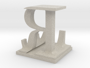 Two way letter / initial L&R in Natural Sandstone