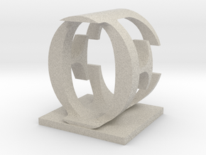 Two way letter / initial E&O in Natural Sandstone