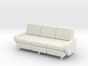 1:36 Davenport in White Natural Versatile Plastic